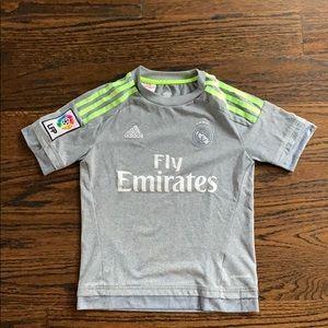Adidas Madrid Soccer Tshirt 9-10yr old - perfect!
